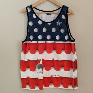 O'Neill Beer Pong Red, White, & Blue Tank